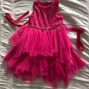 Other - Pink party dress with glitter, lace, rhinestones